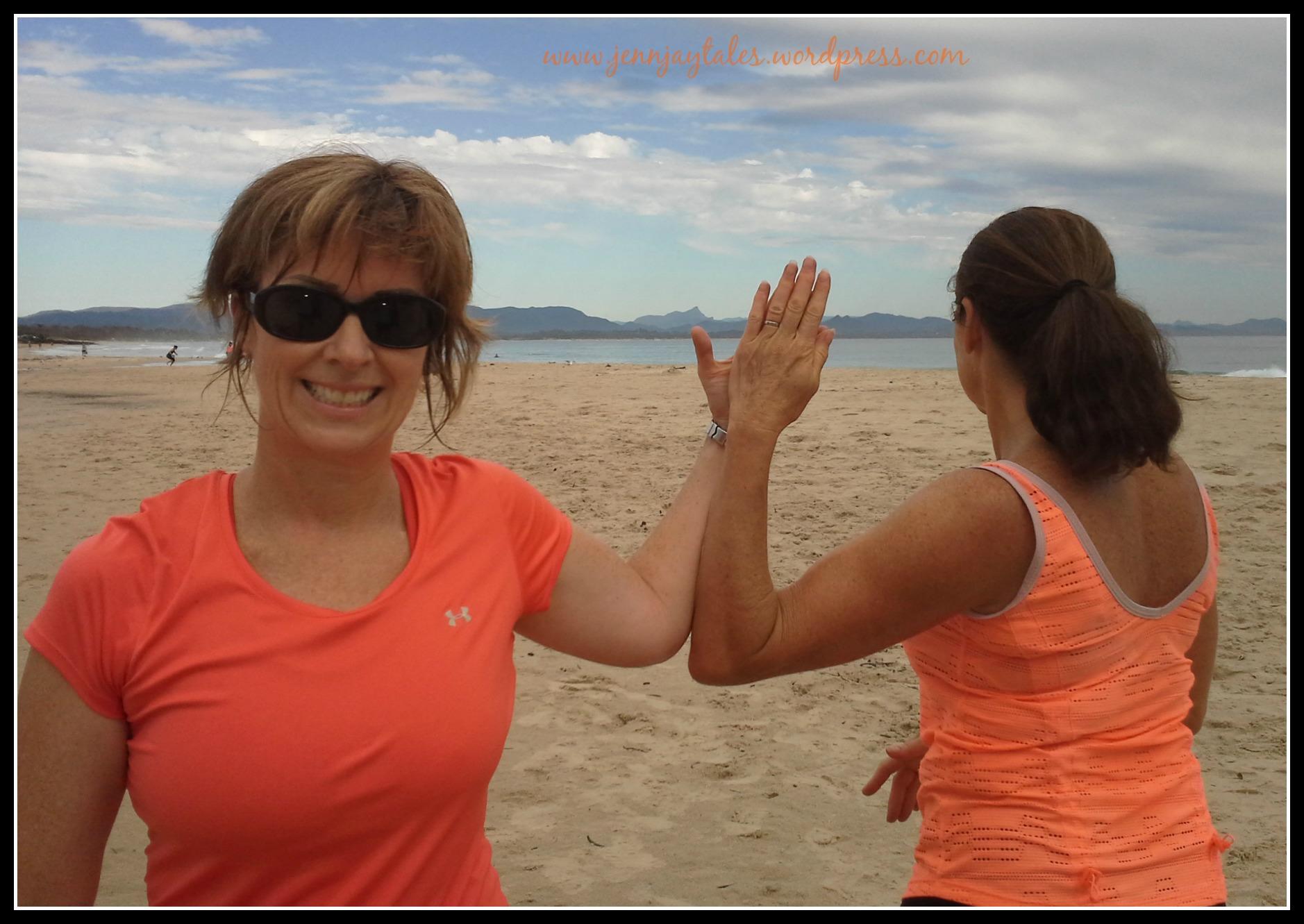 jenn works out in Byron Bay img