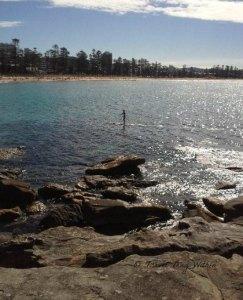 Paddling to Bondi Beach