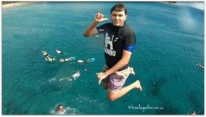 Black Rock leaping James