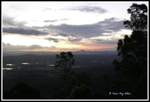 Mt Tamborine - just down the road - the Aussie bush caps off the end of a day.