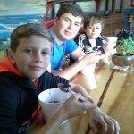 The boys loved the Frozen Yoghurt (Fro yo)