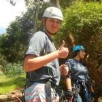 James rates ziplining