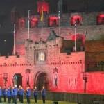 Replica of Edinburgh Castle at Etihad Stadium