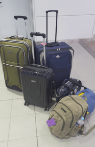 luggage waiting for its owners