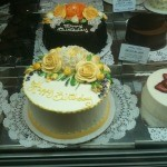 cake on display in Dean and Deluca store