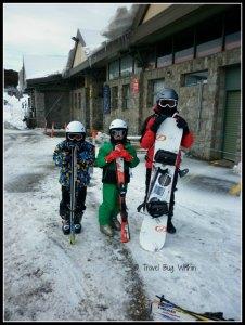 Skiing dudes