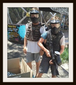 Don't mess with me - Paintballers are ready