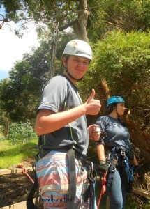 James rates ziplining