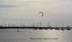 Kite Surfer at St Kilda Beach
