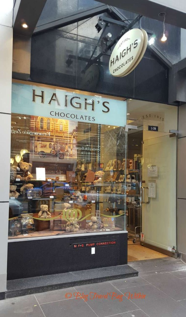 Haigh's Chocolates on Collins Street