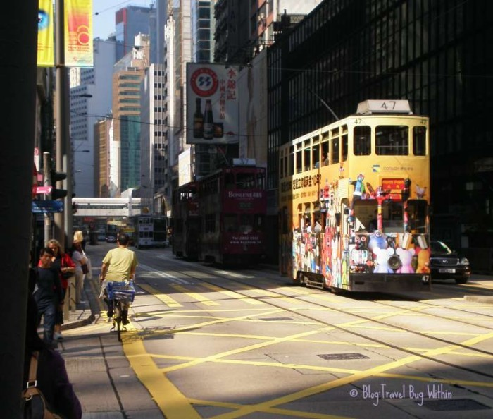 The streets of Central, Hong Kong Island
