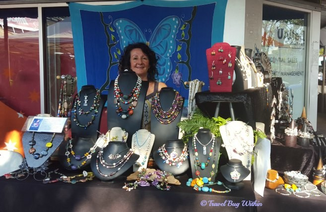 Laureen Ward and her stall at Parap Village Marjets