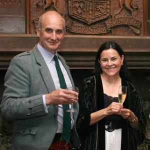 Clans and Castle Tour Operator Alastair Cunningham with Diana Gabaldon at Castle Stuart (Photo courtesy Alastair Cunningham)