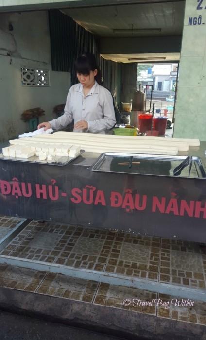 Incredible tofu at the Cai Rang land markets © Travel Bug Withiin