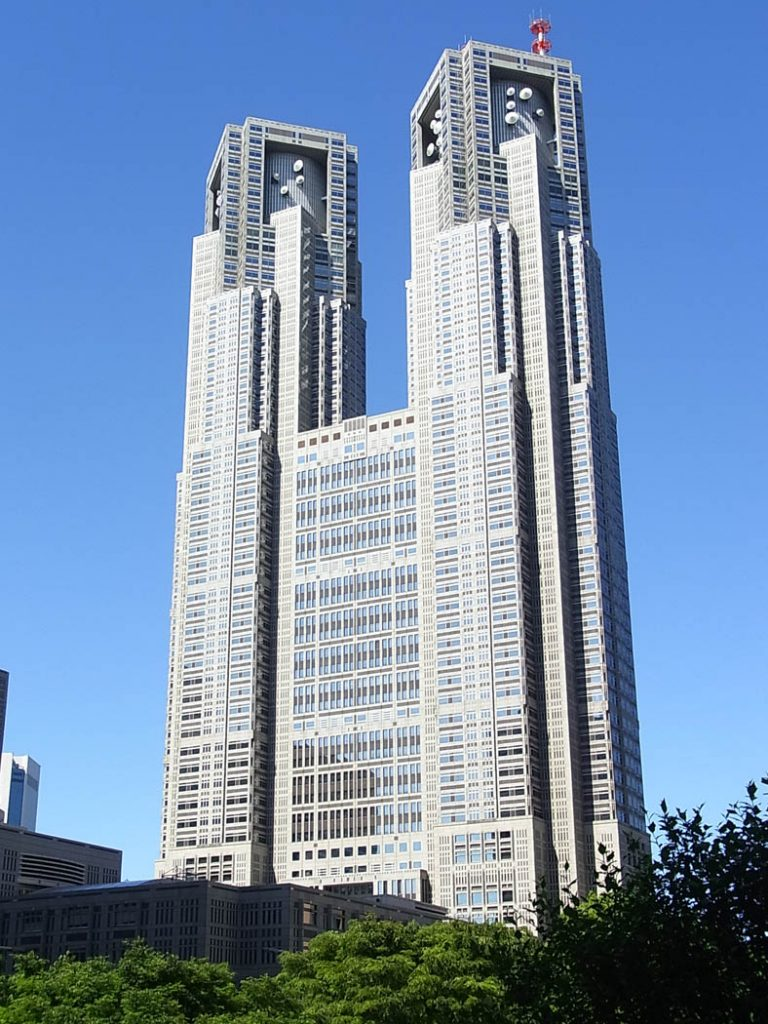 Image of a large building with two towers